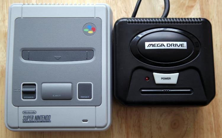 Mega Pi next to a SNES Mini