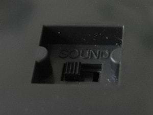 Sound on/off