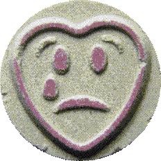 sad love heart