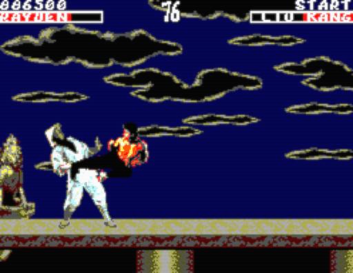 Screenshot: Liu Kang's Flying Kick